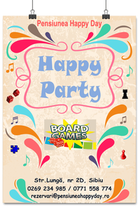 Invitatie Happy Party - Board Games - jocuri de societate